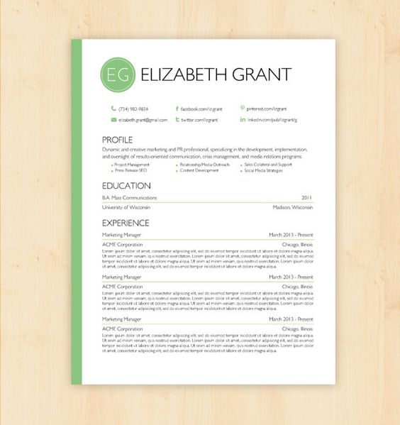 resume template  u0026 cover letter template - the sara reynolds resume design