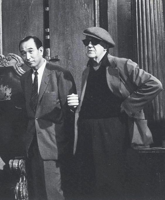 Kurosawa with one of his heroes, John Ford