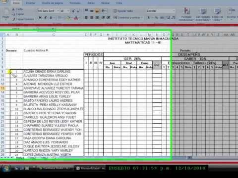 Cuadros En Excel 2007 1 Wmv Taller 3 Tecnicas De Enseñanza Informática Educacion