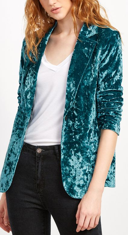 crushed velvet blazer                                                                                                                                                                                 More
