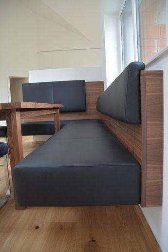 Schwebende Eckbank Nussbaum Echtleder Mehr Panche Da Cucina Arredamento Arredamento Casa