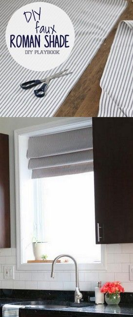 Diy Faux Roman Shade For The Kitchen Roman Shades