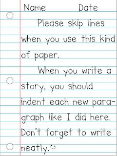 FREEBIE! Model of how to use notebook paper properly.