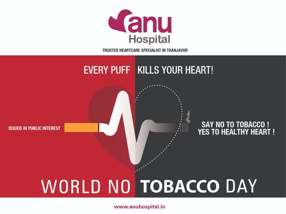 Every Puff Kills Your Heart Say No To Tobacco Yes To Healthy Heart World No Tobacco Day Worldnot World No Tobacco Day Heart Hospital Best Hospitals