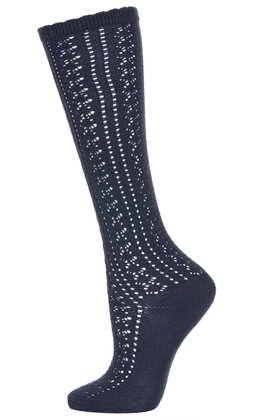 Navy Pelerine Knee High Socks