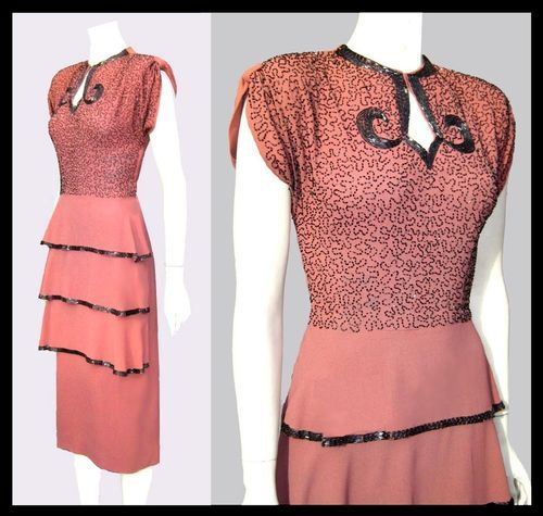 Old Fashioned Rayon Crepe Dress