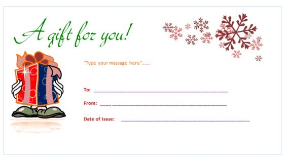 Printable-Gift-Certificate-Template Office Templates Pinterest