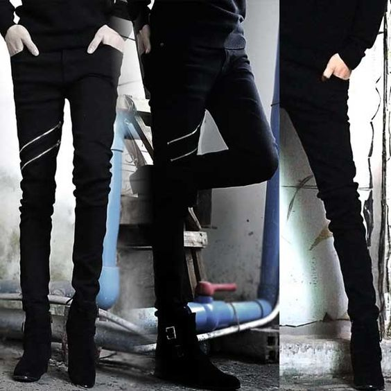 male-black-zipper-slim-jeans.  I know these are for men but I want a pair.  Love the zippers.