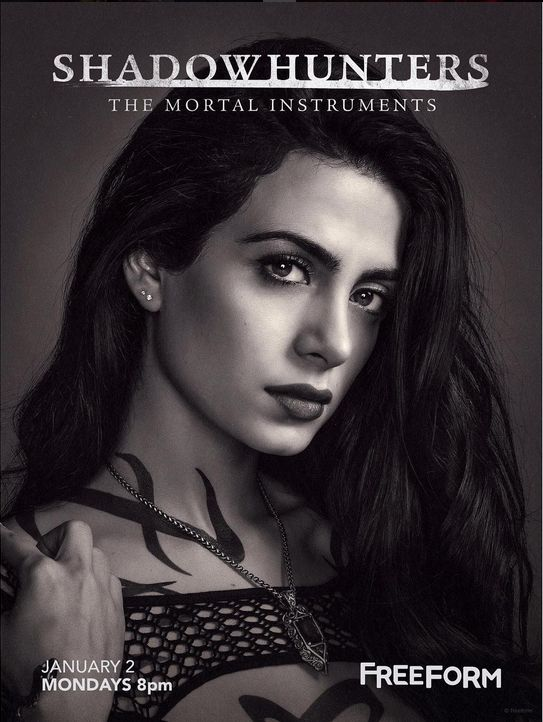 Emeraude Toubia as Isabelle Lightwood | TMI Shadowhunters Season 2 | Freeform Poster
