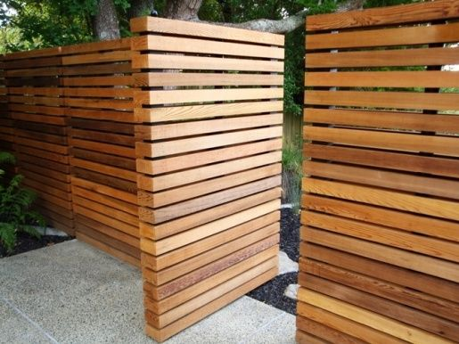 This fence is going to require a little added work once you get your pallets, but it's going to be worth it, don't you agree? The fence has a moderate stain on it but the look is one you'll want in your yard.