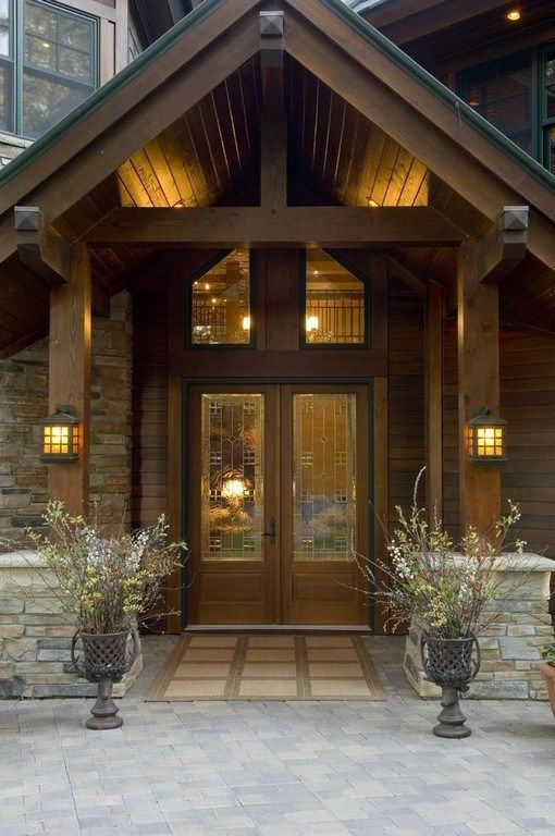 30 Awesome Timber Frame Porch Ideas House Entrance Entrance