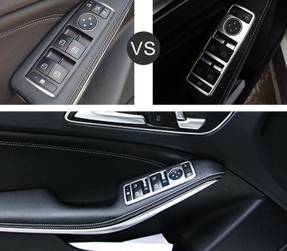 Door Handle Holder Window Lift Switch Cover Trims For Benz C Class