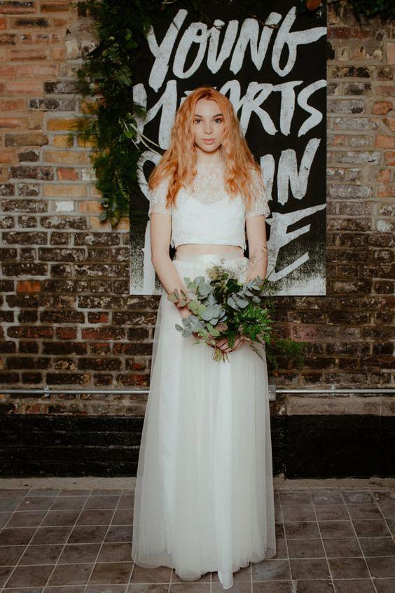Silk Ivory Bridesmaid or Wedding Top Wedding by RockTheFrockBridal