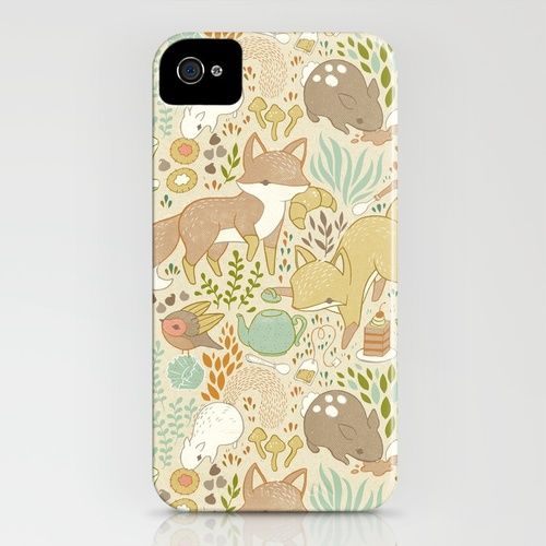 Animal's Tea Party iPhone Case: Iphone Cases, Cases Wallpapers, Covers Cases, Cases Society6, Animal S Tea, Cutest Iphone