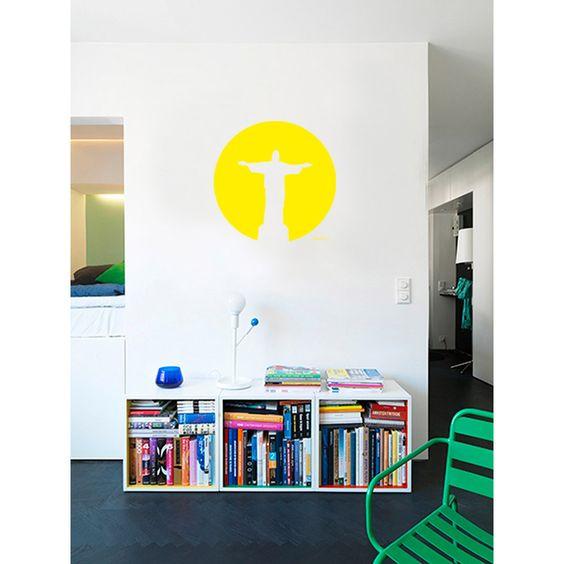 Adesivo de Parede Cristo Haus For Fun Colorido (24x24cm) - Submarino.com.br