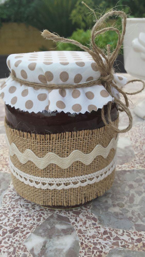 Frasco decorado para mermelada