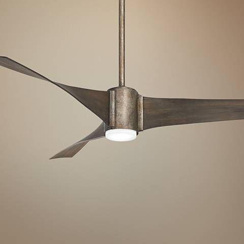 60 Minka Aire Triple Vintage Iron Led Ceiling Fan 43t39 Lamps Plus With Images Ceiling Fan Led Ceiling Fan Vintage Iron