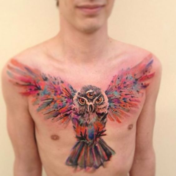 Watercolor tattoos are Ondrej Konupcik's speciality. The 31-year-old Znojmo, Czech Republic native goes by the name ONDRASH and is a graduate of Fashion Design from Tomas Bata University in Zlin. Konupcik has made a name for himself not only for his style, but for the concern he shows his clients, seeing only one person per day.