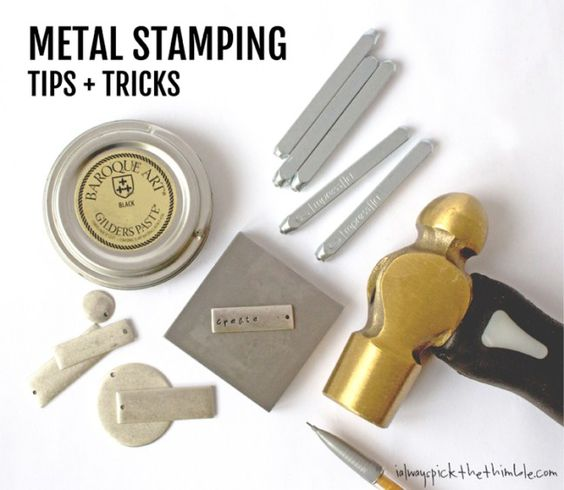 Metal stamping can be intimidating, but these metal stamping tips + alignment tricks can help improve your pendants and other stamping projects.