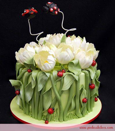 image of Tulip lindo y pastel de bodas Ladybugs ♥ Día de San Valentín Ideas…