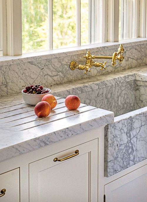 9 Kitchen Marble Ideas For When You Really Love Marble