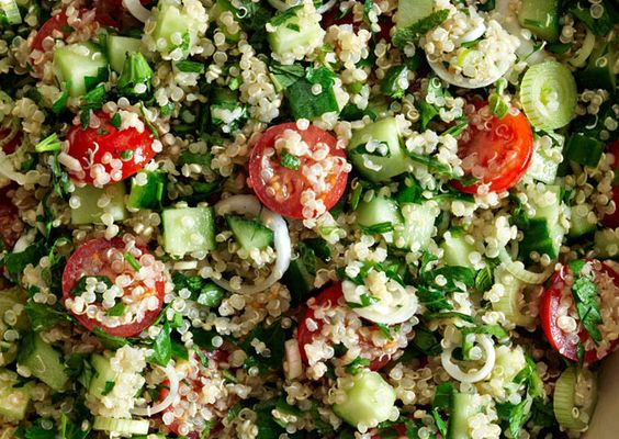 This Quinoa Tabbouleh became a staple for us this summer.  A great way to use the mint taking over my flower bed and the strong parsley I find each week at the farmers market.