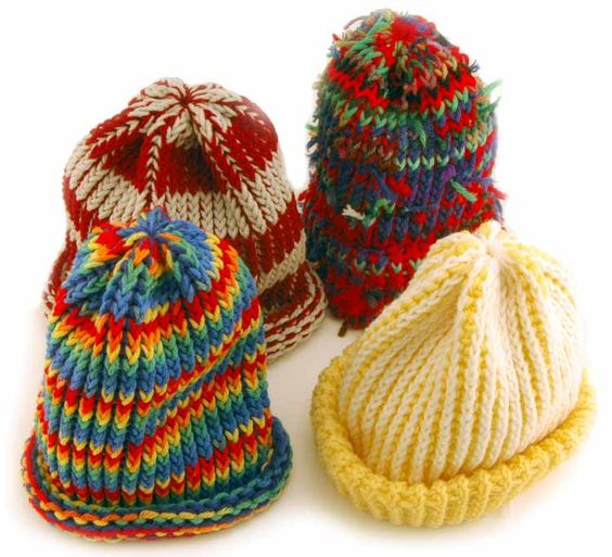 Knitting Loom Uses : Beannies for knifty knitter round loom patterns this hat