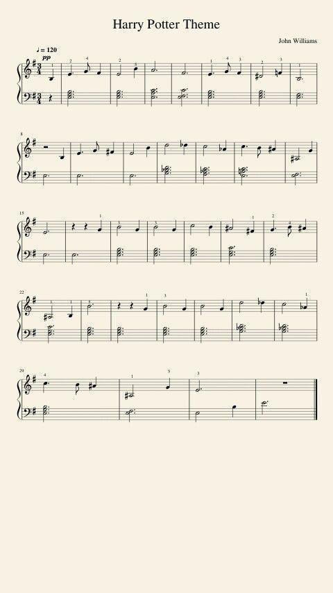 Harry Potter Theme Violinlessonsforkids App School Pinterest Com Klavierunterricht Klavier Klarinette Noten