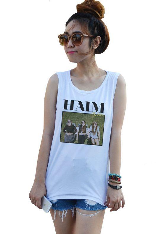 HAIM Shirt Tank Fashion Tunic Tee Artist Tank top by dazztees, $14.99