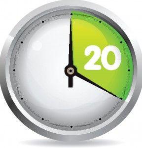 snel gewicht verliezen met de 20 min. regel
