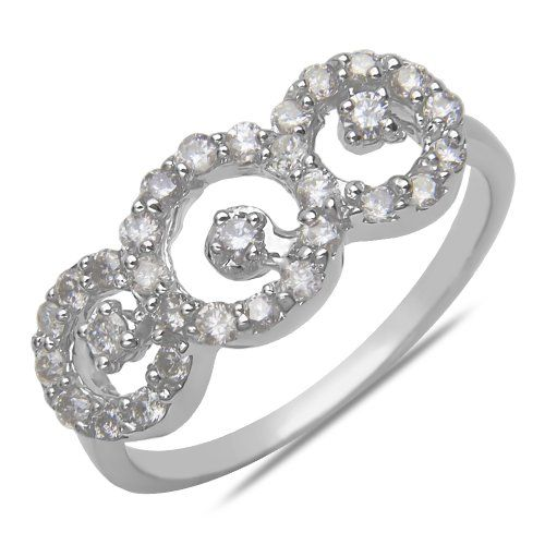 Ladies 1/2CT Diamond Fashion Ring in 14k White Gold Nisso...…