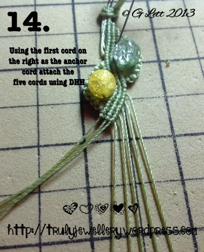 All at Sea Micro Macrame Bracelet tutorial picture 14