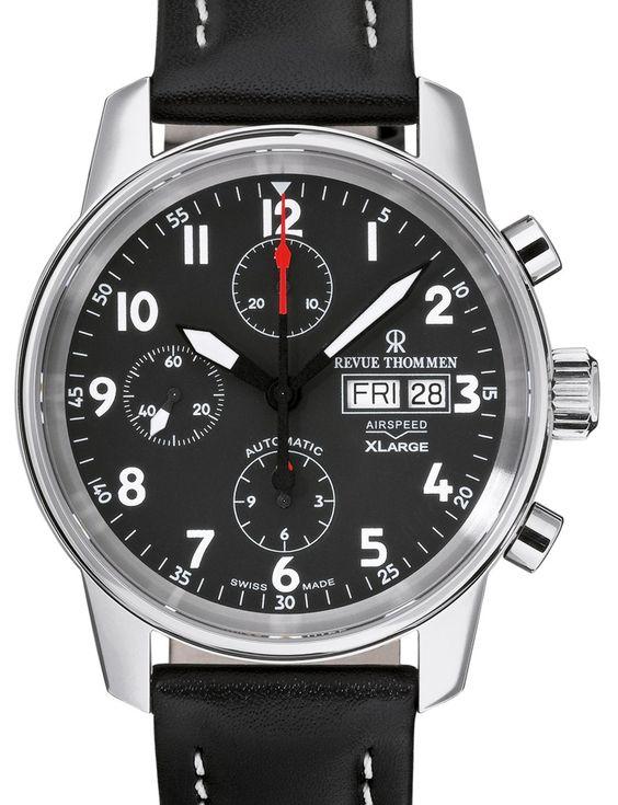 Revue Thommen   Airspeed Chronograph XL   Edelstahl   Uhren-Datenbank watchtime.net