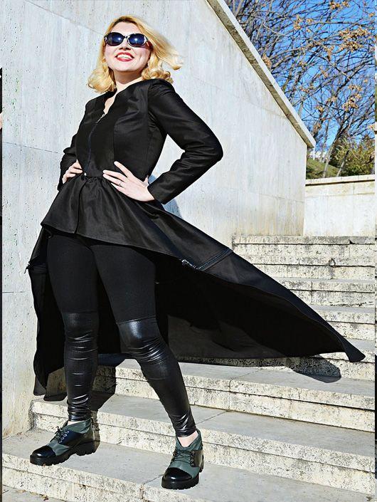 Wonderbaarlijk Zwarte handgemaakte legging. Het is een mooi lang model met VC-45