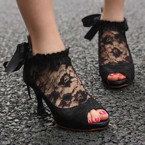 I have a pair of shoes that could use a change. Lace might be just the thing they need: