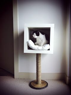 Diary of a Deviant Housewife: IKEA hack = modern cat bed!