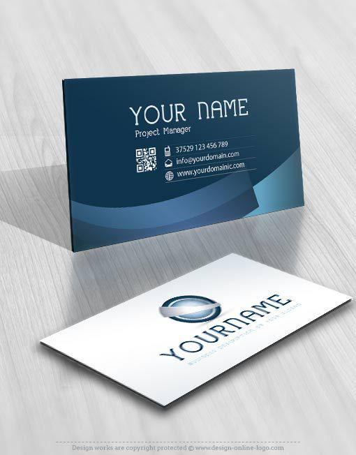3d High Tech Logo Free Business Card Free Business Cards Tech Logos Double Sided Business Cards