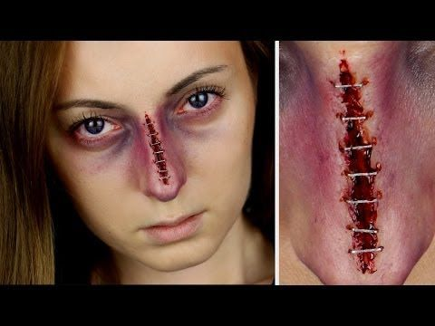 Stapled And Bruised Nose SFX Makeup Tutorial - YouTube | Makeup Tutorials | Pinterest | The Head ...