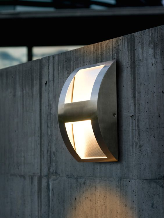 modern wall lights modern flush fitting outdoor wall light stainless