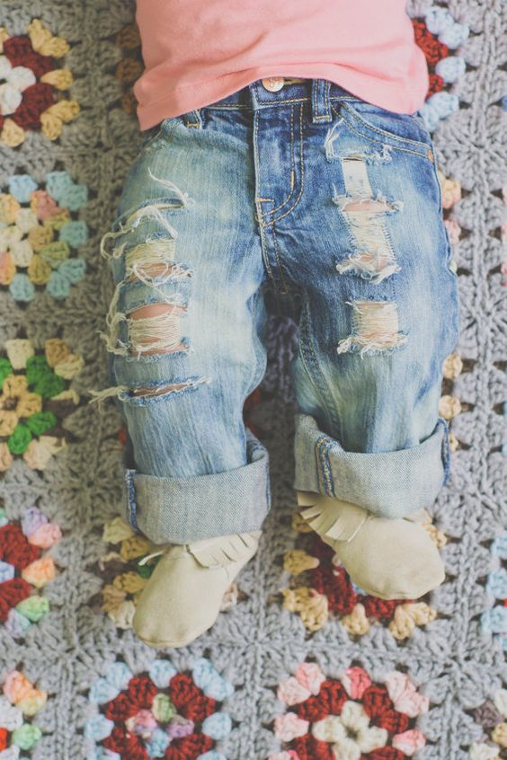 Baby Capris Baby Jeans @Jill Meyers Meyers Weaver ella needs some of these stylin things! :)