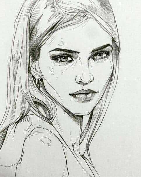 Pinterest An Appealing Aesthetic Portrait Sketches Portrait Drawing Face Drawing