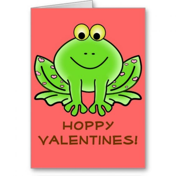 Love Frog Funny Greeting: Hoppy Valentines Day Greeting Card