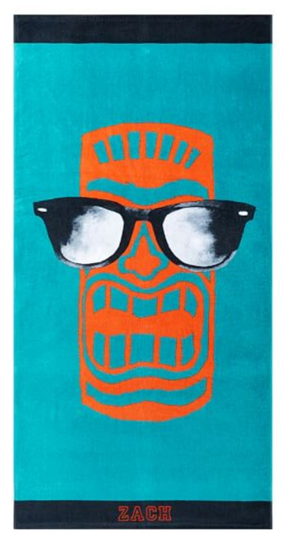 Personalized Tiki God Beach Towel