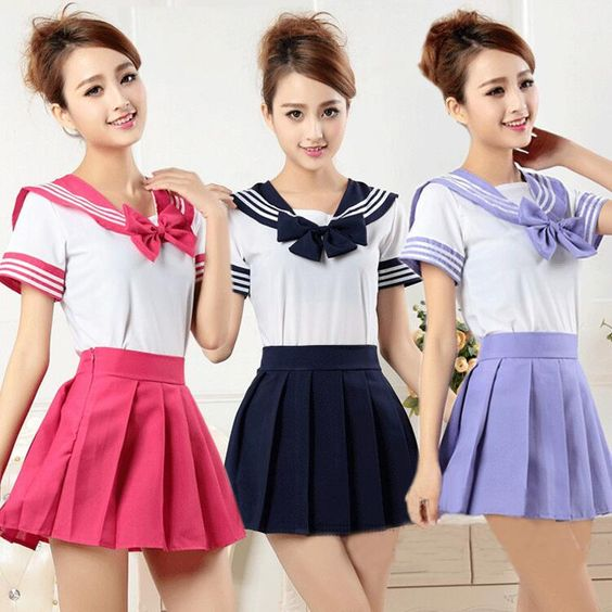 Japanese student uniforms skirt two-piece outfit - Thumbnail 2