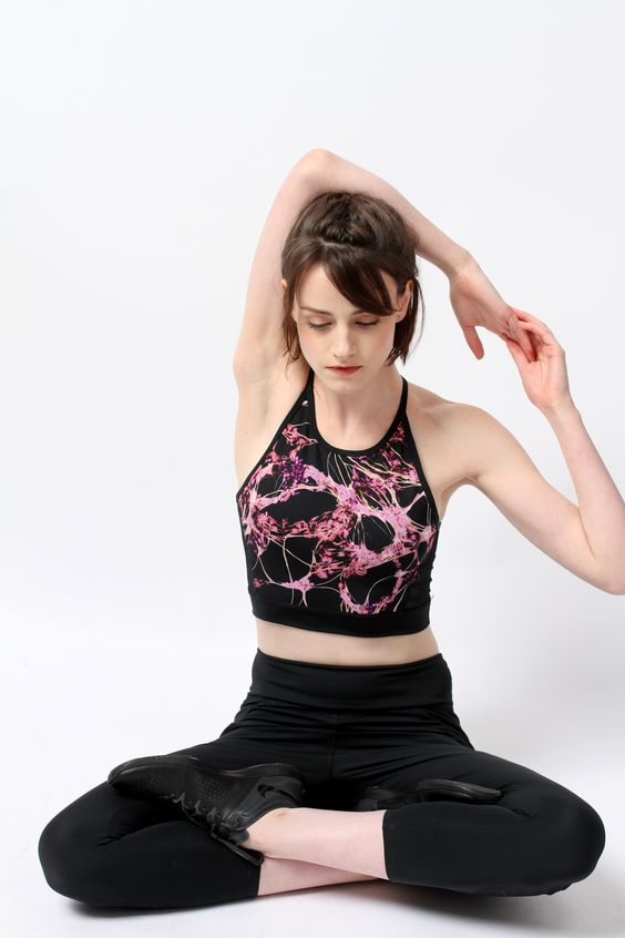 The She's Got Brain longline bra is designed for supreme versatility and comfort, the lattice strap back and mesh inserts keep you cool while the eight-way stretch, performance fabric wicks away moisture.