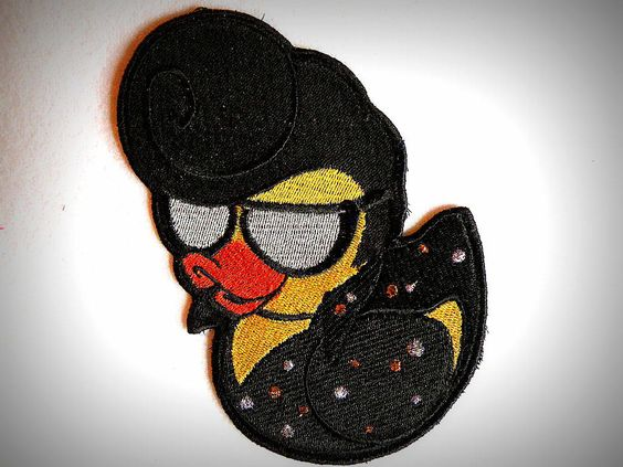 The 'King' Ducky Iron on Patch. $14.00, via Etsy.