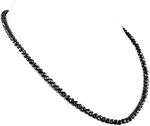 Chic Skyjewels Round Black Diamond 4mm Beads Necklace In 18k Gold Clasp 20 Womens Jewelry Chicideas From Top Store