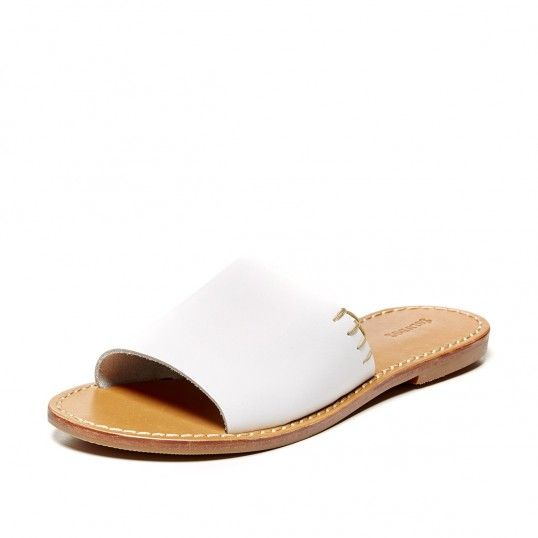 Leather Slide Sandal: