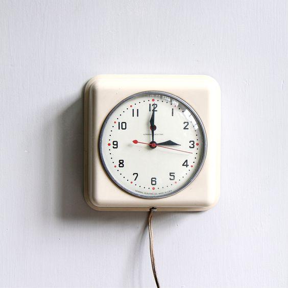 Vintage Modern Kitchen Clock. $69.00, via Etsy.
