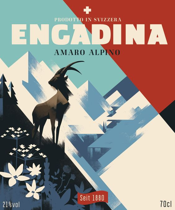 Engadina, Amaro Bitter on Behance